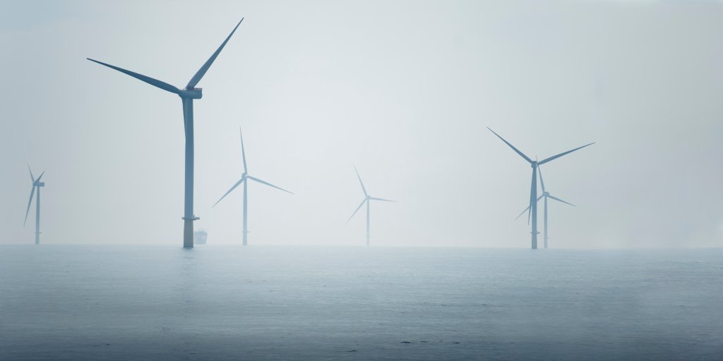 wind farm off the Norfolk coastline