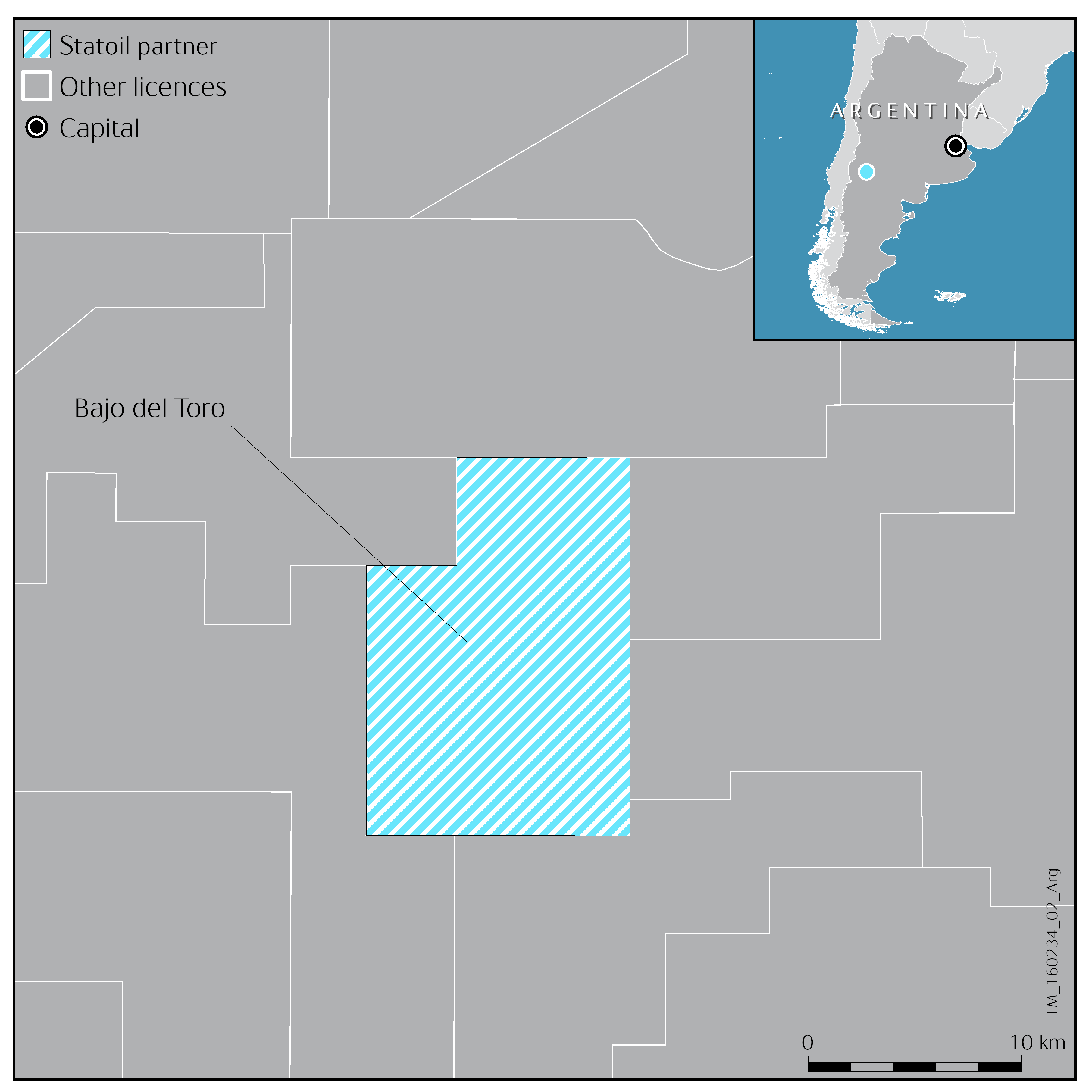Statoil And YPF Sign An Onshore Exploration Agreement For Vaca - Argentina map png