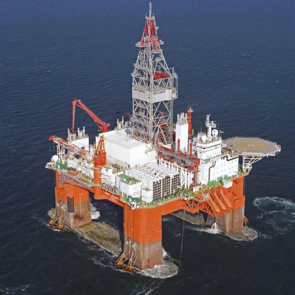 Photo of the Seadrill West Aquarius drilling rig