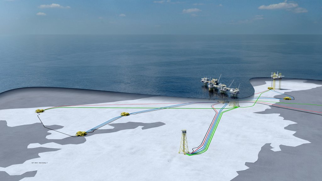 Johan Sverdrup 3d illustation incl. wells