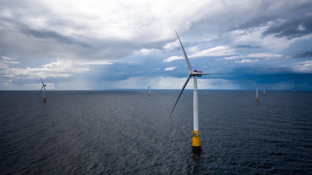 Photo of the  Hywind Scotland floating wind farm