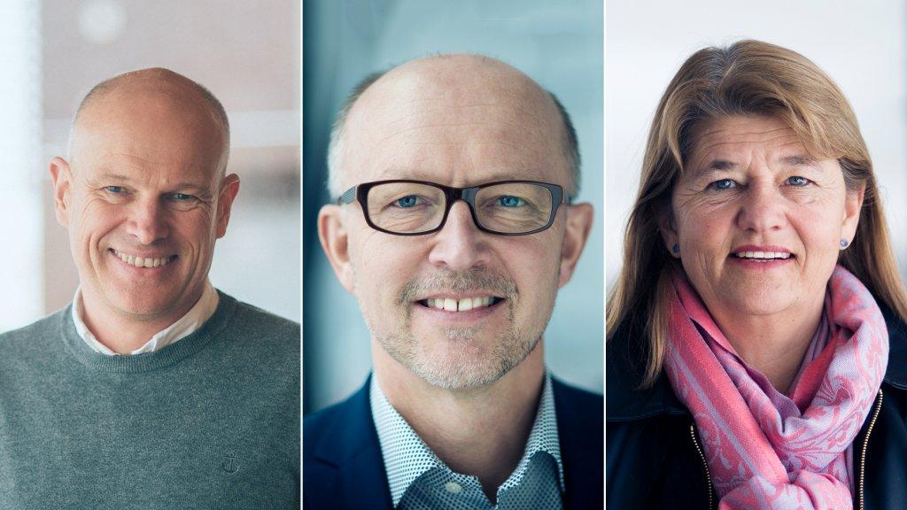 Photo of Arne Sigve Nylund, Tim Dodson and Margareth Øvrum