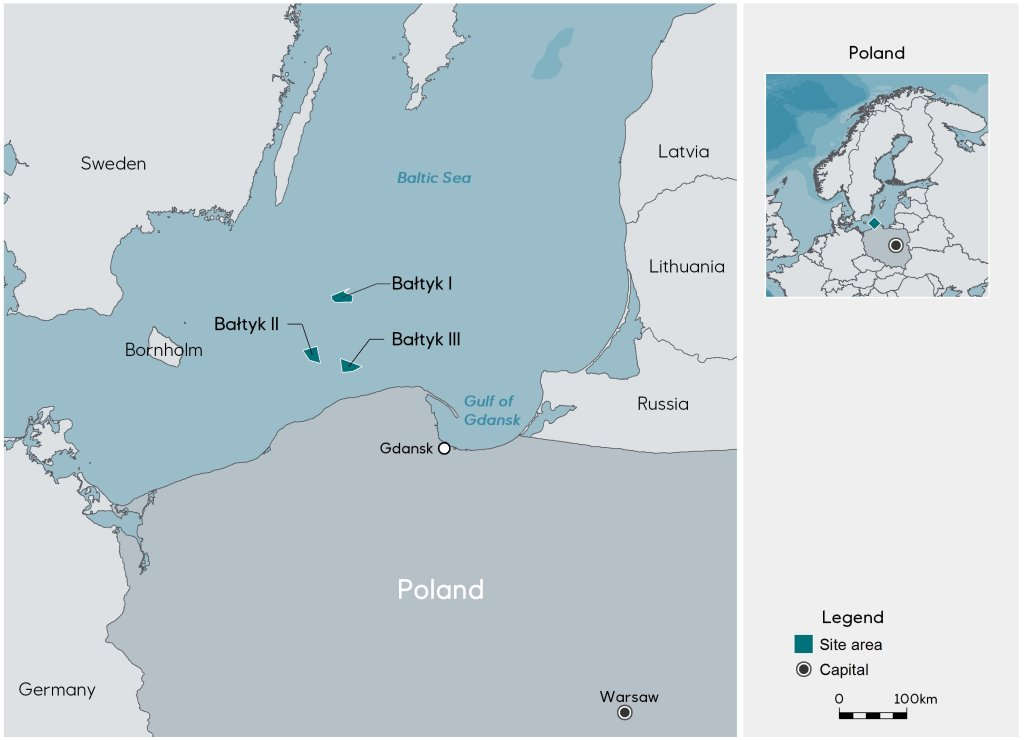 Capital Of Poland Map.Equinor Deepens In Offshore Wind In Poland Equinor Com