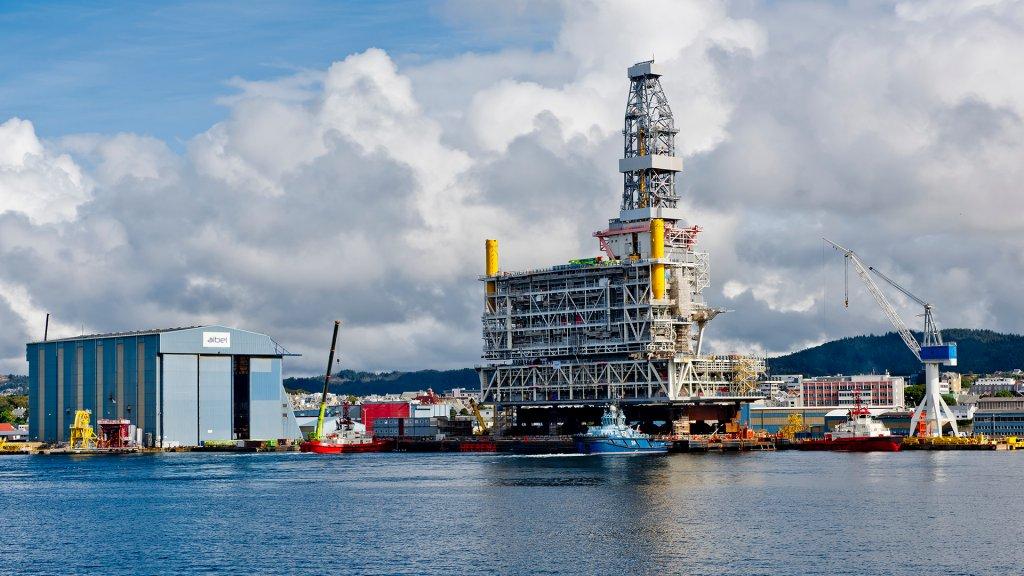 Topside of  the Johan Sverdrup drilling platform