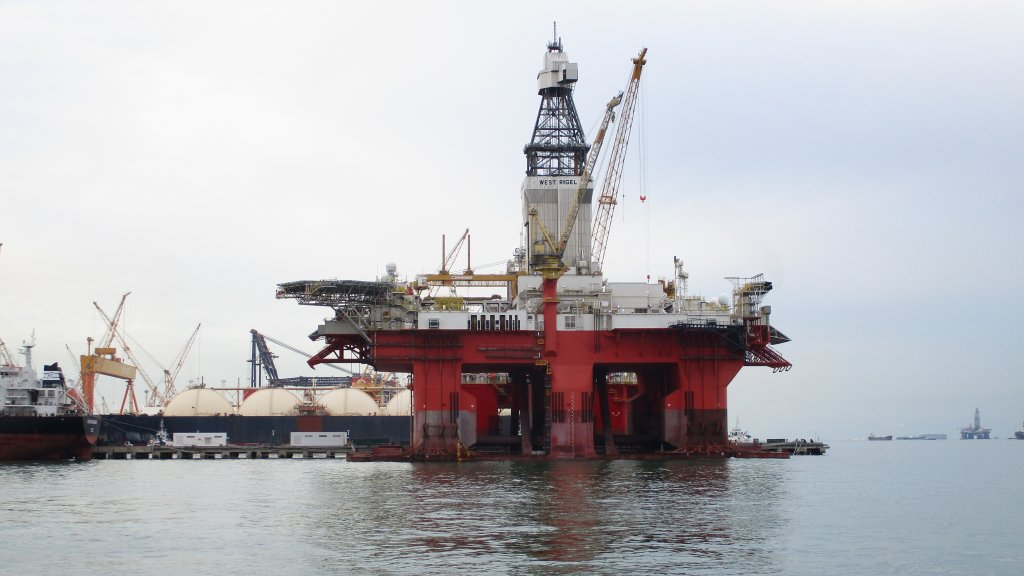 The West Rigel drilling rig