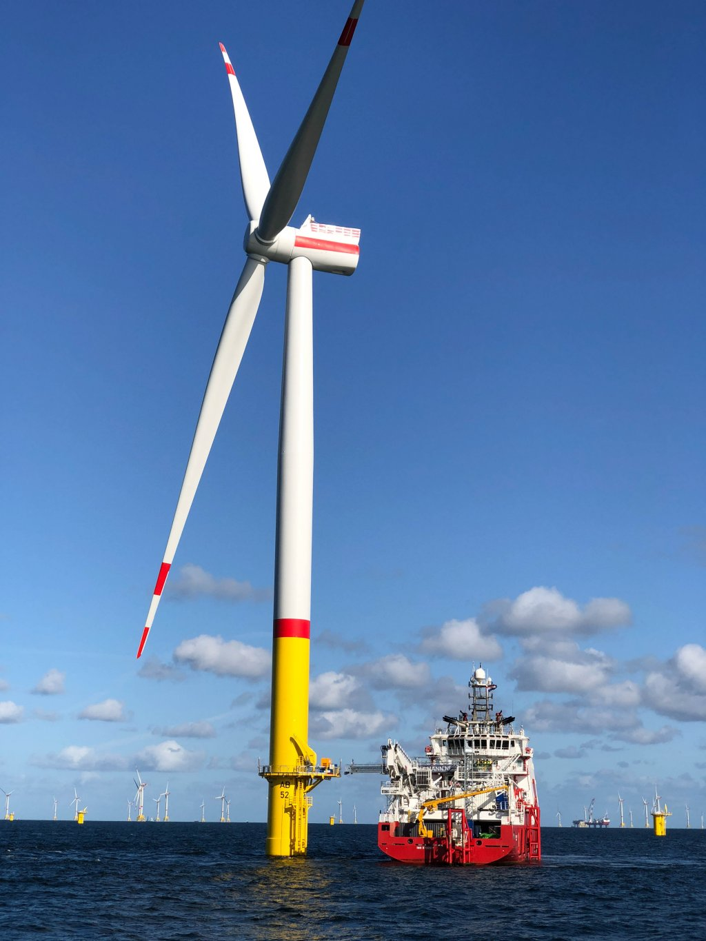 The Arkona offshore wind farm