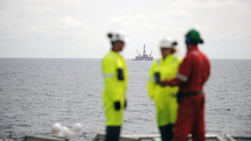 The Transocean Leader drilling rig in the North Sea