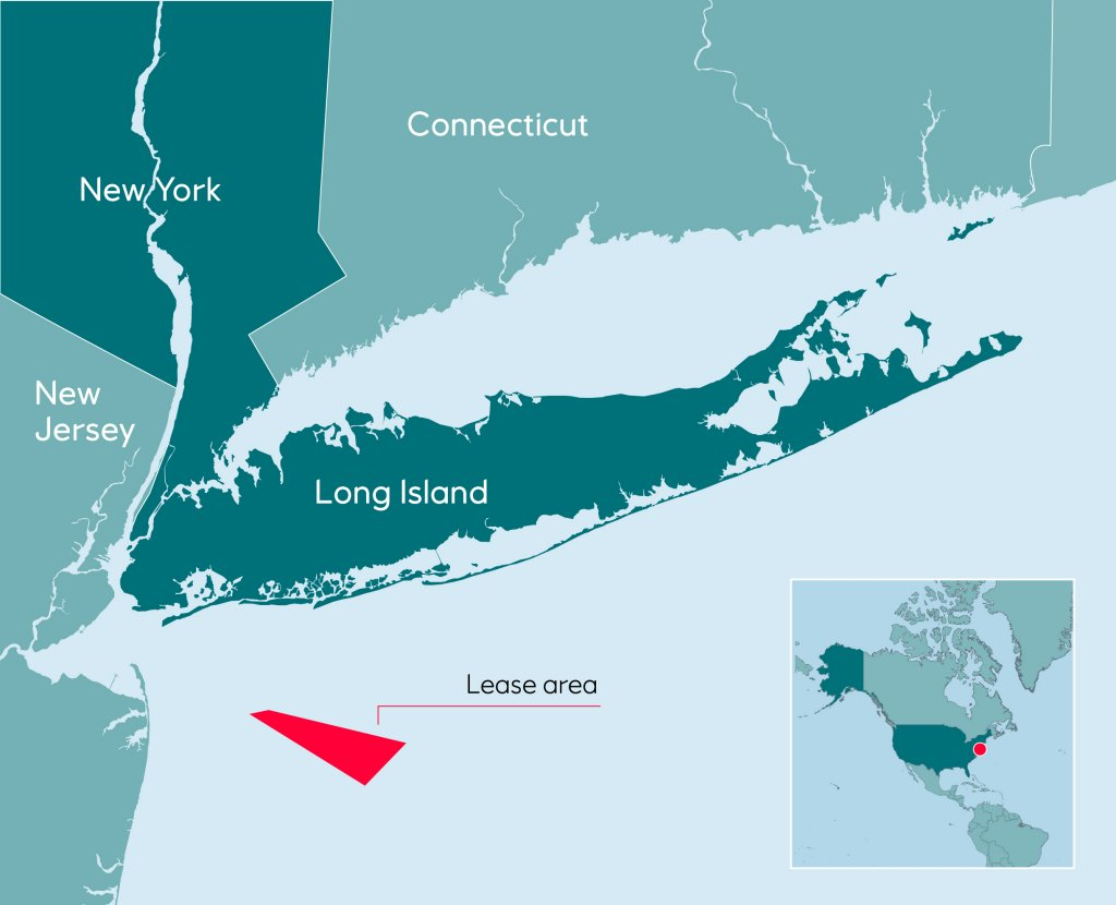 Map Of New York New Jersey And Connecticut.Equinor Offshore Wind Bid Wins In New York State Equinor Com