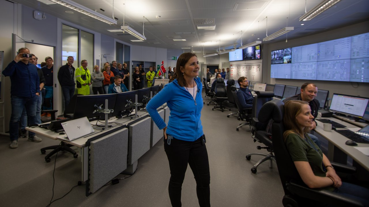 Celebrations in the Johan Sverdrup control room