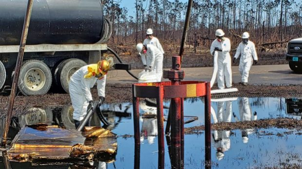Oil spill recovery in progress in the Bahamas
