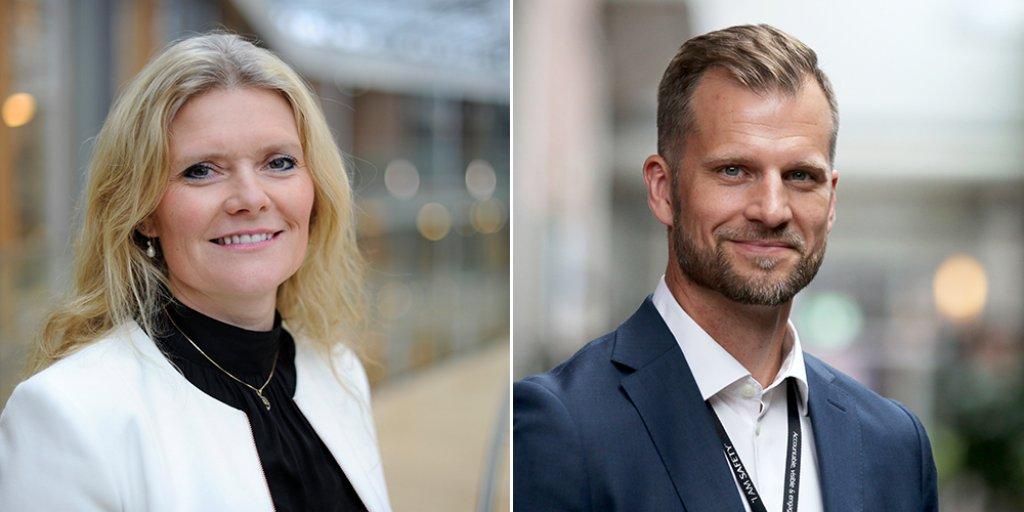Photo of Peggy Krantz-Underland and Erik Gustav Kirkemo