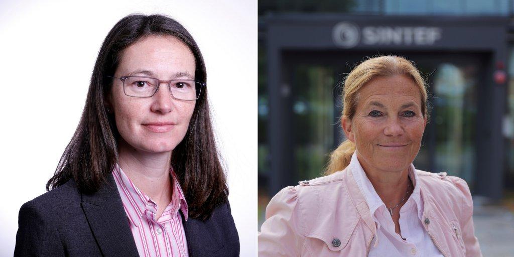 Photos of Sophie Hildebarnd and Alexandra Bech Gjørv