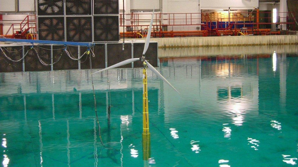 Photo of wind turbine testing at Sintef