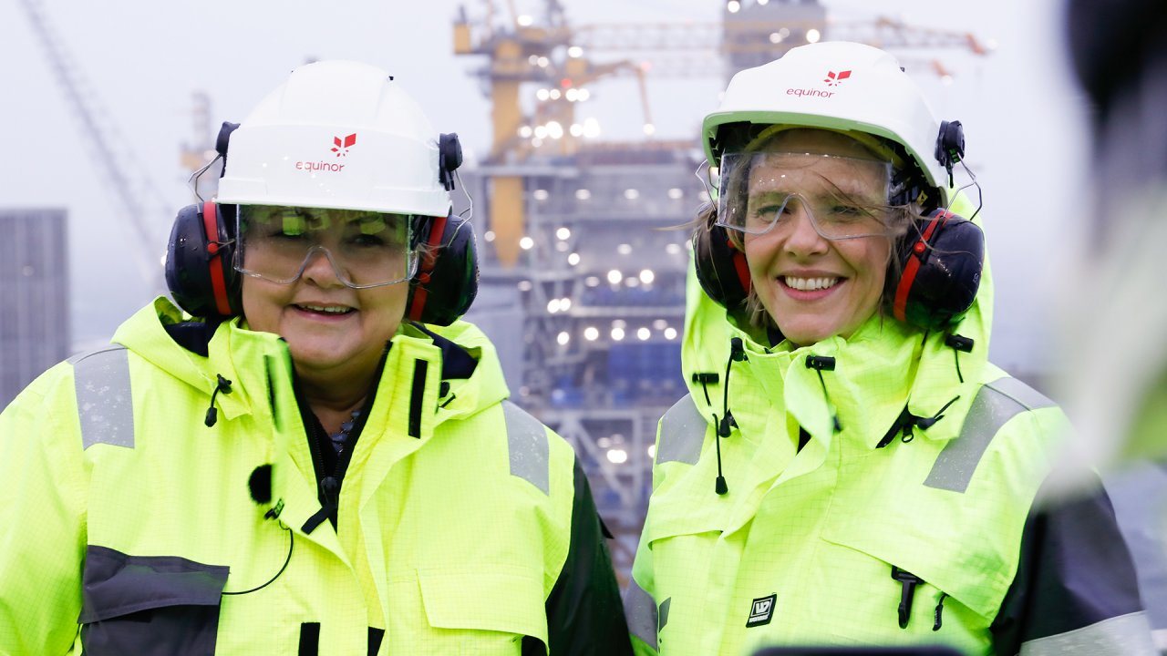 Norway's prime minister Erna Solberg (left) and minister of petroleum and energy Sylvi Listhaug