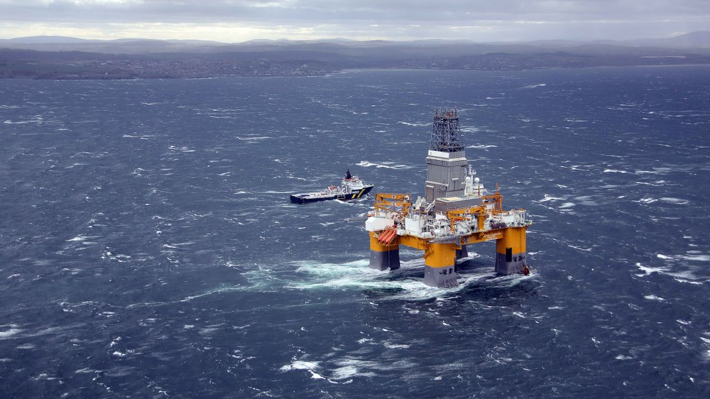 Photo of the Deepsea Aberdeen drilling rig