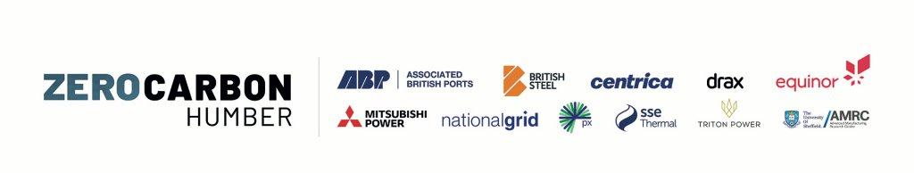 Logos of Zero Carbon Humber partners