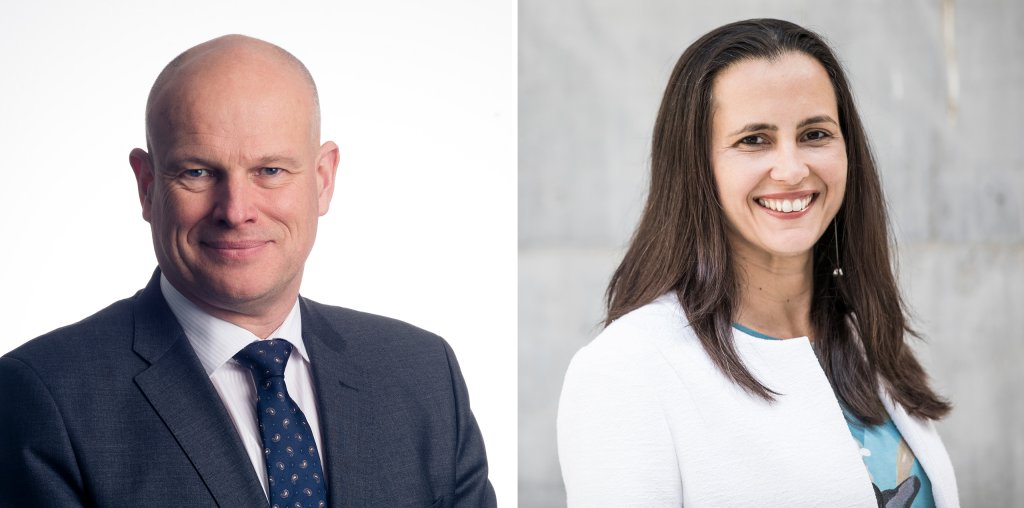Arne Sigve Nylund (left) and Veronica Coelho - portraits