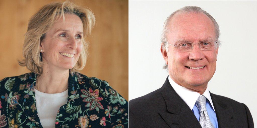 Irene Rummelhoff (left) and A. Gary Klesch - portraits