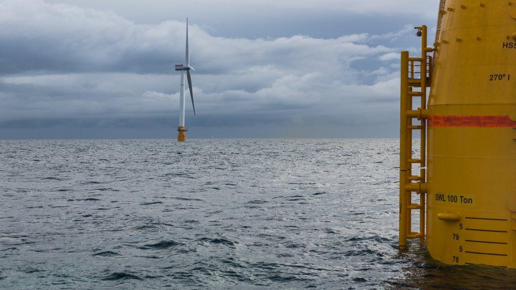 Photo of the Hywind Scotland wind farm
