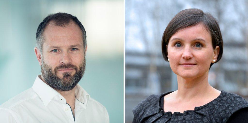 Photos of Sebastian Bringsværd and Sonja Chirico Indrebø