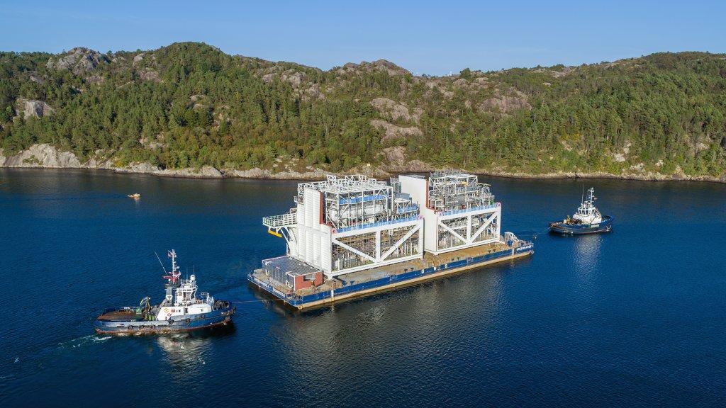 Johan Castberg module being transported