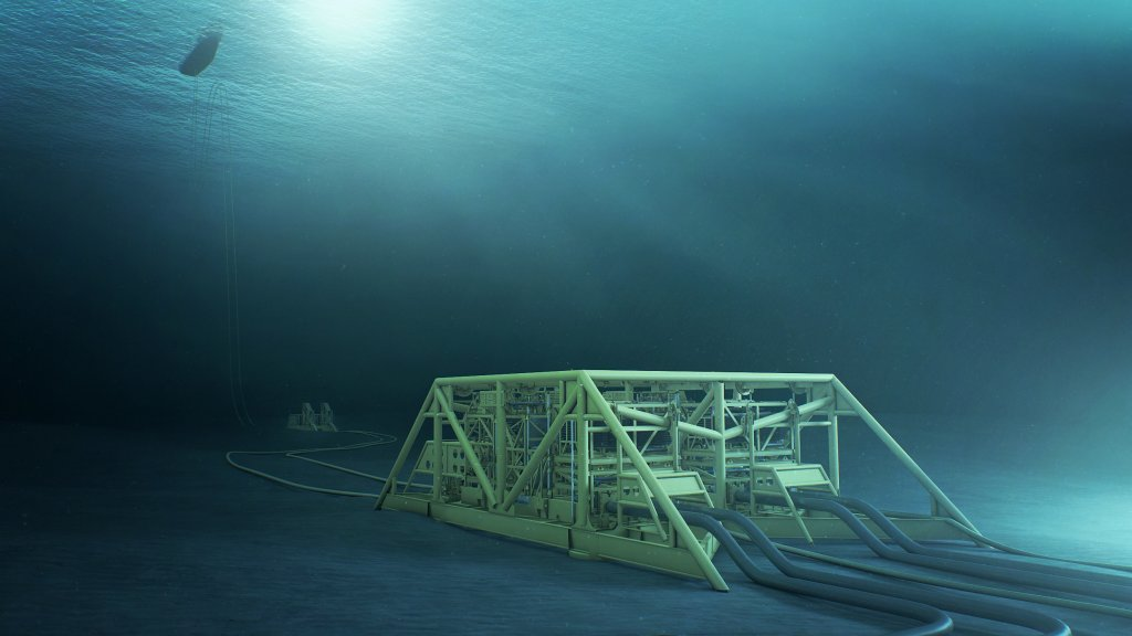 Picture of the Åsgard Subsea installation