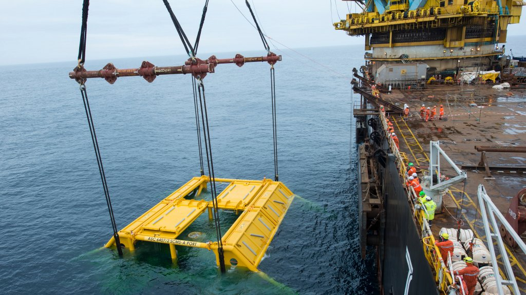Photo of Åsgard subsea installation