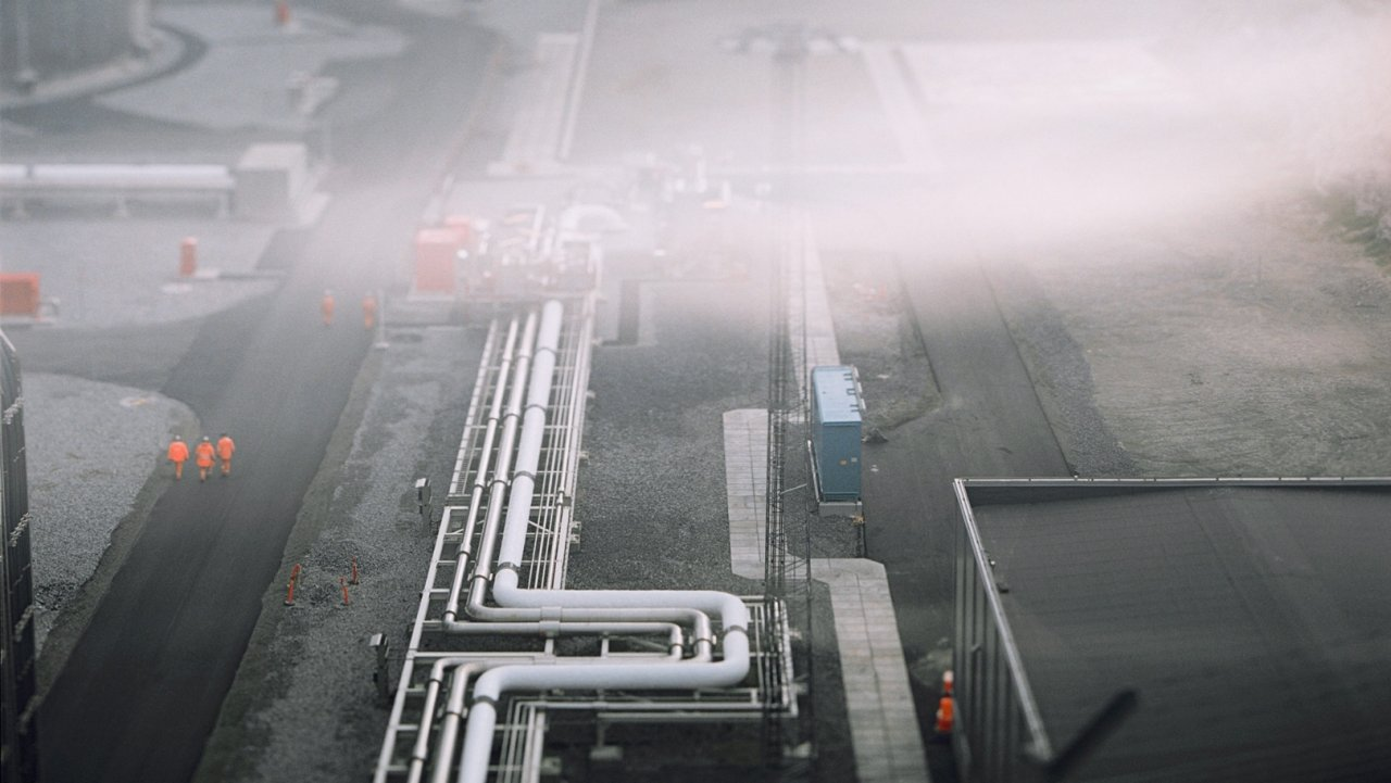 Picture of Hammerfest LNG facility on Melkøya