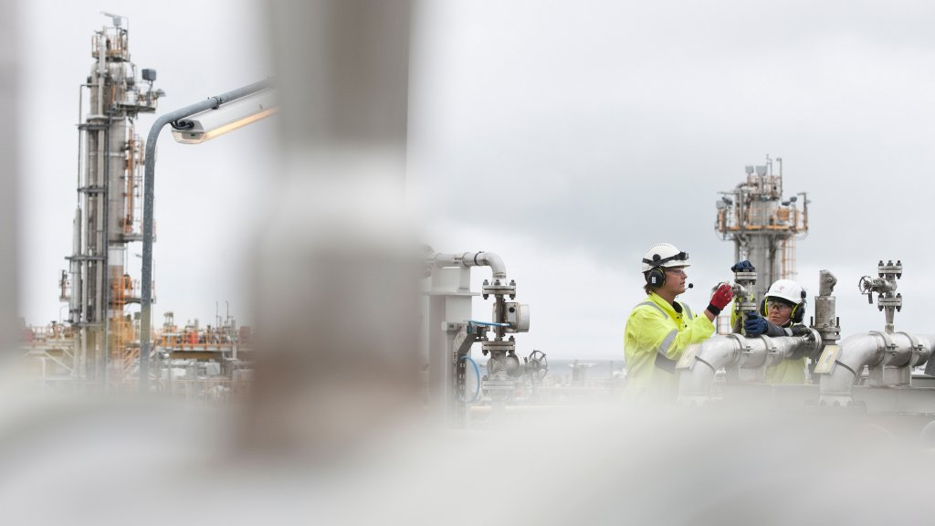 Picture of people working at Kollsnes gas processing plant