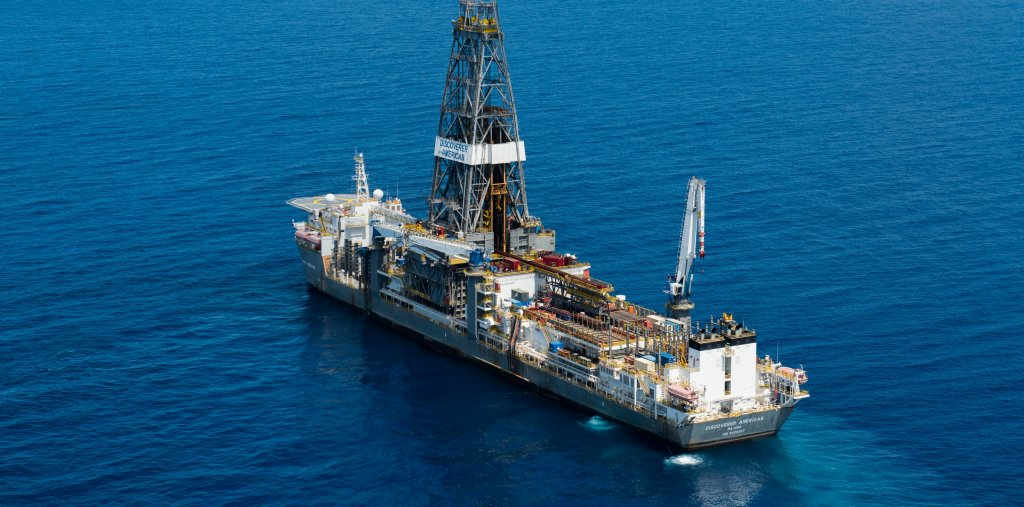 "Aerial views and onboard the drilling ship ""Discoverer Americas"" off the coast of Tanzania on Friday, September 27, 2013."